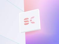 SC logo design - on wall