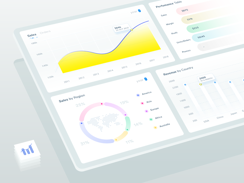 Dashboard Widgets - For seller tool minimal design isometric style mockup vendor sales ui elements expereince web app analytics graphs charts stats statistics web admin interface ux ui widgets dashboard