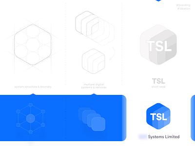 TSL logo design - Branding system logo logotype flat jaydev tsl digital products service provider software mark system icon design grid logo icon creative digital systems identity branding concept logo