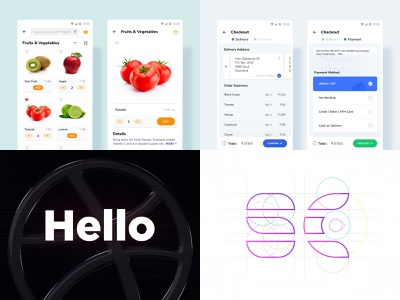 2018 - Top Shots of the year 😉 jaydev creative hello shopping debut shot welcome shot logo checkout grocery e-commerce top shots of 2018 2018 year in review 2018 dribbble
