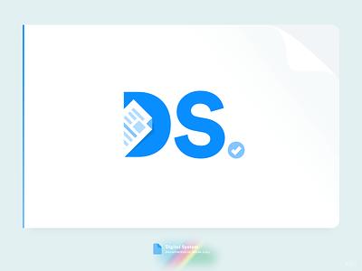 DS Logo brand document logotype letter system documentation creative flat symbol icon branding idenity mark logo ds