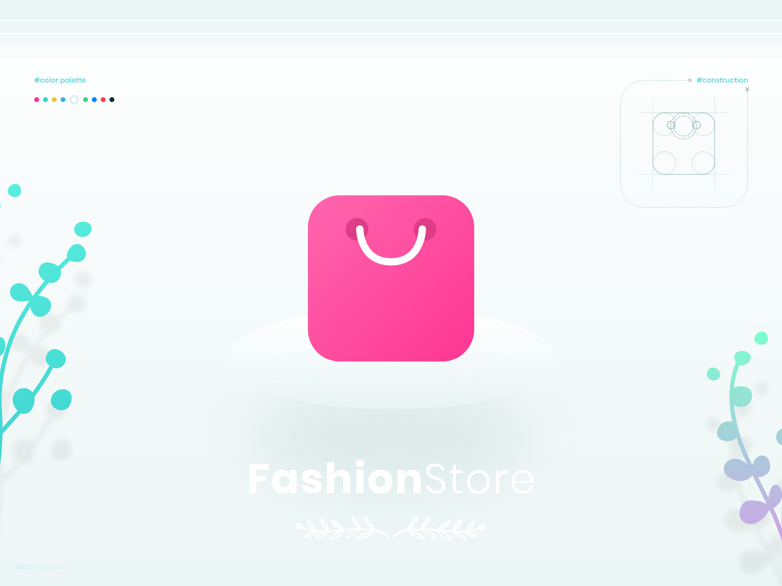 shopping bag logo fashionstore by jd on dribbble shopping bag logo fashionstore by