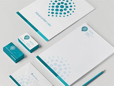 AdvanceNet Labs Stationery identity bestvisualidentity logo