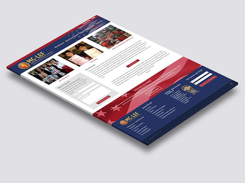 MC-LEF Homepage Isometric website identity