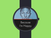 Google watch flat concept