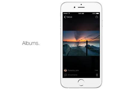 Albums. Photo view