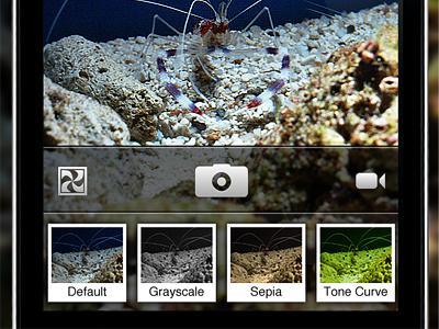 Camera Filters UI