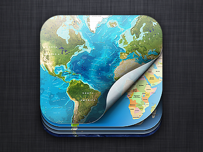 One new maps app (soon) icon ios maps map curl earth app