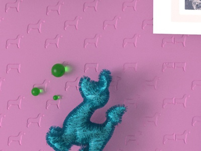 Just a cute dog dog animals illustrated animals 3d art background art print minimal vector ui design illustration