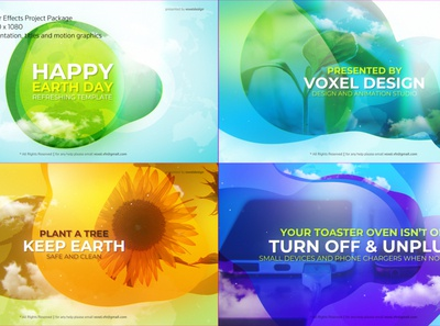 Happy Earth Day Title - 100% After Effects Template logo design corporate package motion graphics smart home recycle promo nature green environment energy electric ecology ecological eco earth day concept