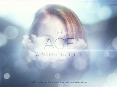 The Age Cinematic Title trapcode after effects art direction 3d motion graphics title serious reveal minimal flare elegant corporate clean bright blurry