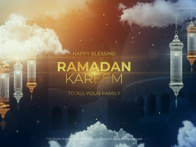 Ramadan Kareem Title trapcode after effects art direction 3d motion graphics ramadan muslim mosque moon light islam holy golden eid blessing