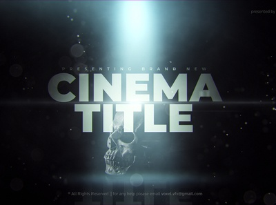 Cinema Title Template ​​ parallax cinema horror film emotional dramatic documentary deep spot light cinematic