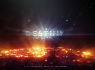 The Destiny Cinematic Title animation trapcode after effects art direction motion graphics heat glow grunge hot text dynamic lava melting volcano cinematic