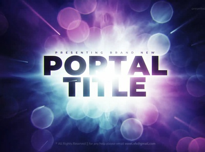 Portal Cinematic Title animation after effects art direction 3d motion graphics ​​ parallax cinema space film emotional dramatic documentary deep portal cinematic