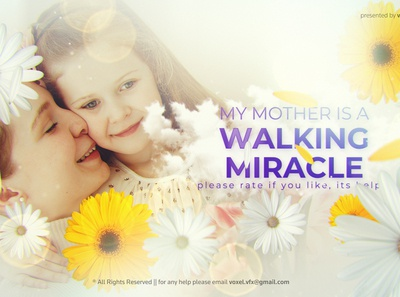 Happy Mother's Day Opener Template animation art direction after effects 3d motion graphics mothers day holiday love mother celebrate gift mommy summer romantic greeting