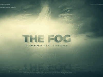 Fog Cinematic Title volume lights fog trailer film emotional dramatic documentary deep cinematic cinema animation particles after effects motion graphics