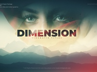 Dimension Cinematic Title animation art direction 3d after effects motion graphics volume lights fog trailer film slideshow dramatic documentary mountain cinematic cinema