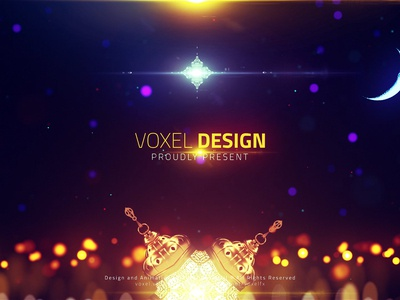 Ramadan Kareem Cinematic Tempalte corporate package flat type minimal trapcode web animation logo design design illustration 3d logo branding after effects art direction particles motion graphics