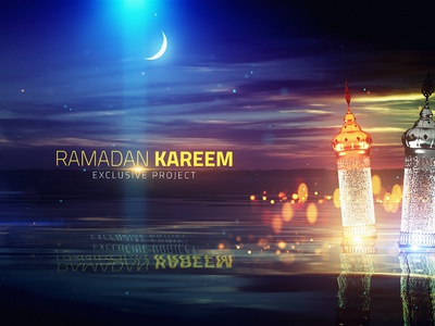 Ramadan Title  00240 corporate package trapcode branding animation particles art direction 3d design after effects moon lake ramadan ramadan kareem motion graphics
