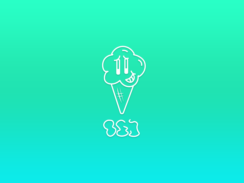 ICEKREAM Logo typeography type ice icecream logo design