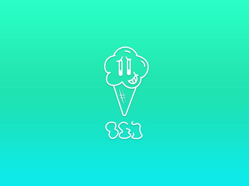 ICEKREAM Logo typeography type ice icecream logo design