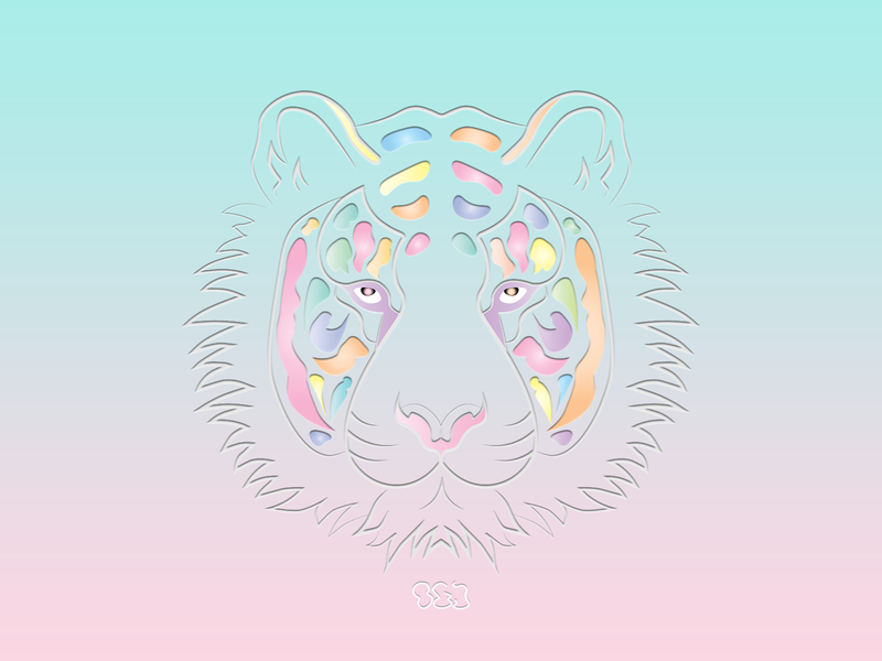 OG TIGER album art concept tiger illustration logo artwork design