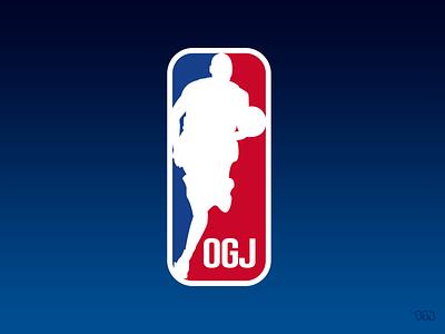 OGJ NBA Logo concept design concept art conceptual nba jam alternative logo alternate nba finals vector basketball nba type branding artwork illustration concept logo design