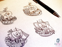 Pirate Ships Sketches