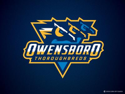 Owensboro Thoroughbreds Primary Logo the basketball league thoroughbreds logo sports logo horse logo logo kentucky owensboro