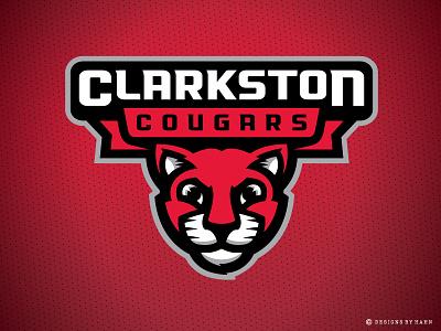 Clarkston Elementary School Logo athletics clarkston elementary branding mascot school logo sports logo cougars