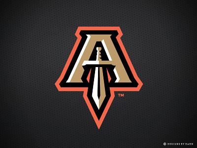 Atlanta Empire Logo team logo atlanta sword logo empire basketball logo sports logo tbl
