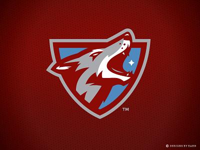 Carolina Coyotes Logo carolina charleston howling coyotes team logo sports logo