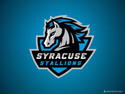 Syracuse Stallions Primary Logo tbl basketball logo horse logo stallions logo syracuse sports logo
