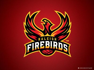 Raleigh Firebirds Basketball Logo raleigh the basketball league sports branding basketball logo sports logo phoenix firebirds