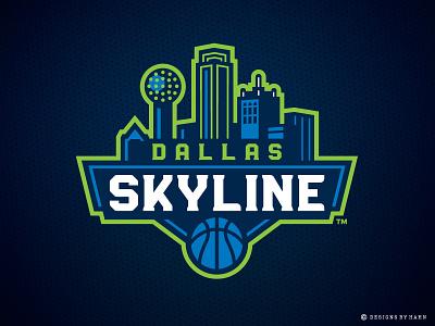 Dallas Skyline Logo dallas skyline logo dallas skyline sports branding sports logo the basketball league basketball logo
