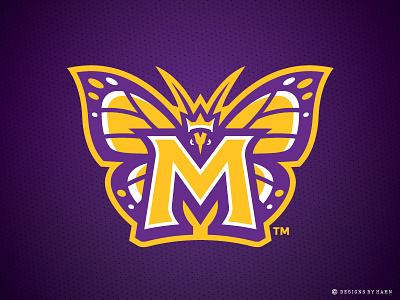 South Shore Monarchs Logo butterfly logo sports logo the basketball league monarchs logo
