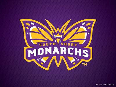South Shore Monarchs Logo butterfly logo sports logo the basketball league logo monarchs