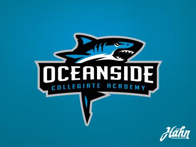 Oceanside Landsharks Logo mascot sports logo sharks landsharks collegiate academy oceanside