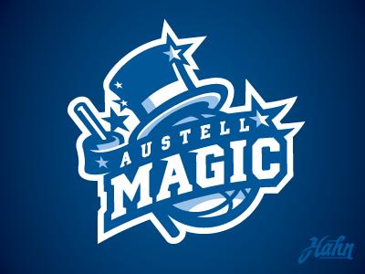 Austell Magic Logo sports logo rcnba magic austell basketball