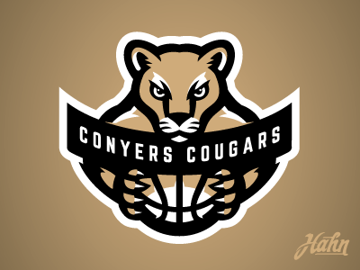 Conyers Cougars Logo atlanta rcnba sports logo basketball cougars conyers