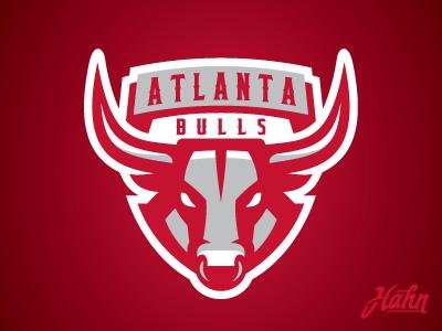 Atlanta Bulls Logo rcnba sports logo basketball bulls atlanta