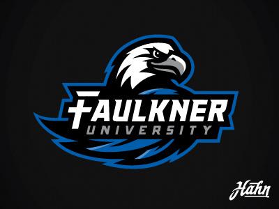 Faulkner University Eagles Logo branding naia college athletics sports logo eagles university faulkner