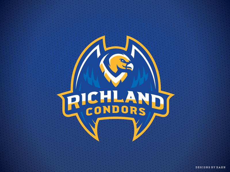 Richland High School Condors bird branding athletics sports logo high school condors richland