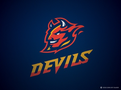Devils Demons Logo Concept blue devils for sale athletics team mascot high school branding college sports logo demons devils