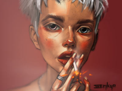 Girl with a Smoke