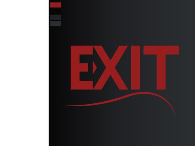 exit-minimallogo type logo art vector typography design illustrator illustration minimal