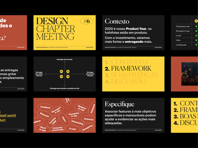 Design Chapter Meeting presentation slides priorization canela bronze yellow meeting design chapter slides presentation