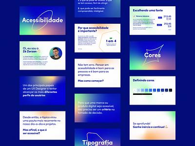 Accessibility presentation slides blue shapes gradient presentation slides accessibility