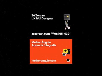 Business cards illustration orange business card